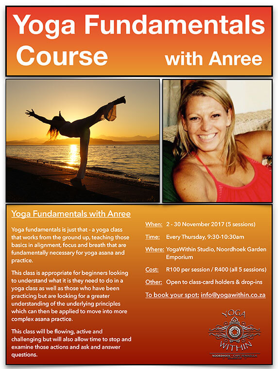 Yoga Fundamentals with Anree - November 2017