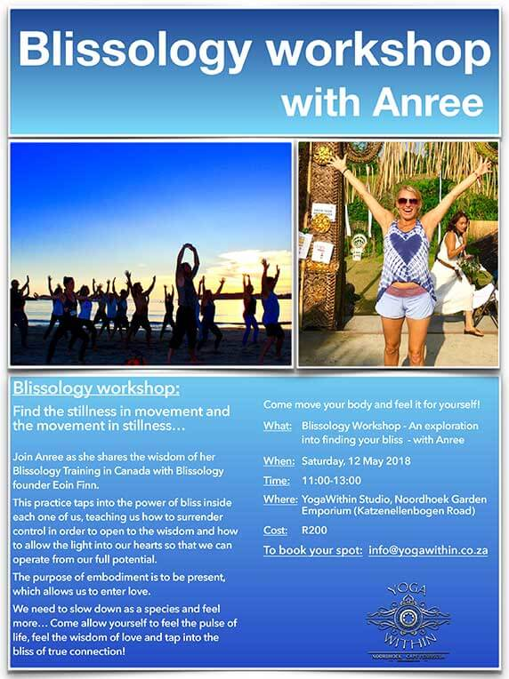 Blissology Workshop with Anree - May 2018