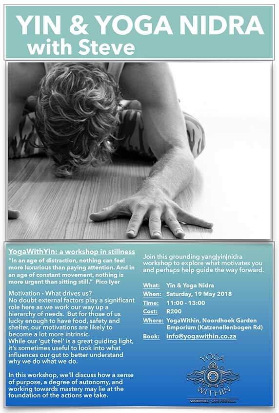 Yin Workshop with Steve 19 - May 2018