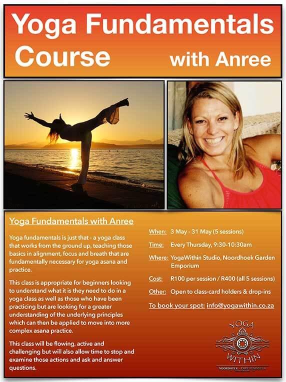 Yoga Fundamentals with Anree - May 2018