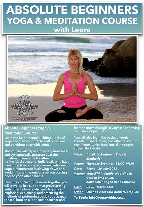 Absolute Beginners Yoga with Leora - June 2018