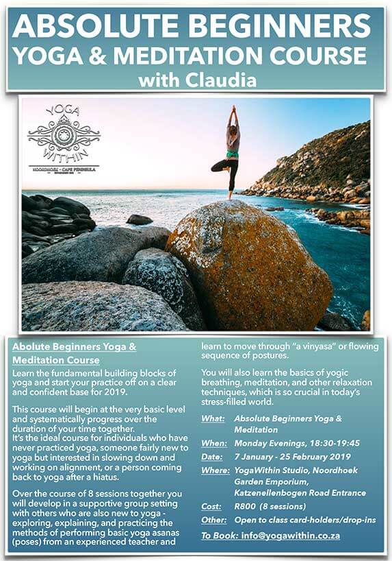 Absolute Beginners Yoga with Claudia - Jan 2019