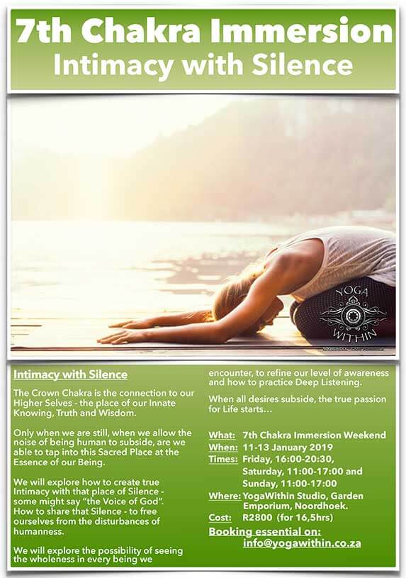 Yoga Immersion Weekend - 11-13 January 2019