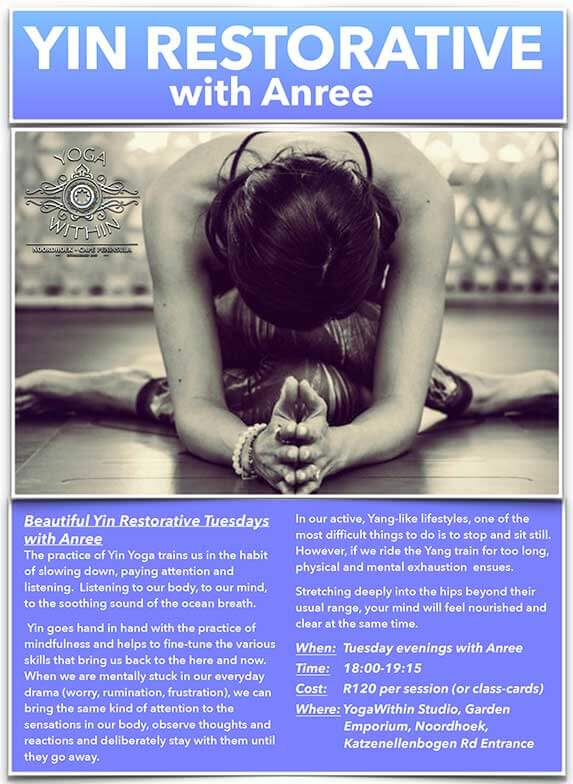 Yin Restorative with Anree - Feb 2019