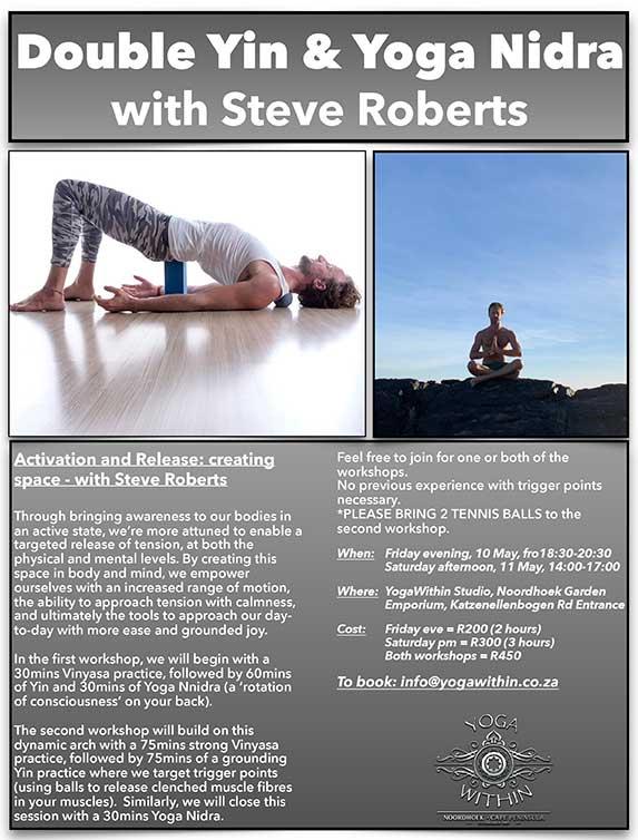 Yin And Yoga Nidra Weekend with Steve - May 2019