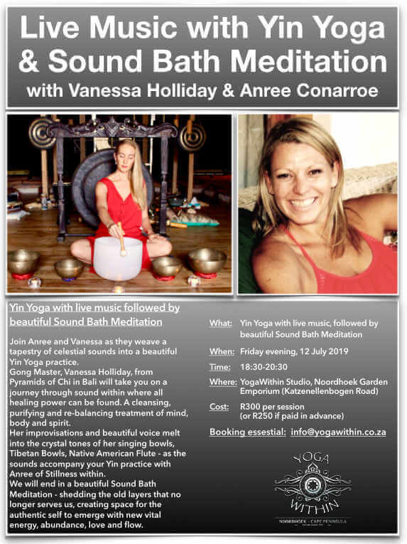 Yin and Live Music with Anree and Vee - July 2019