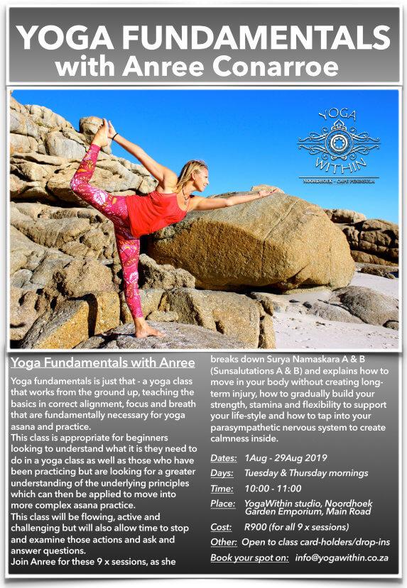 Yoga Fundamentals with Anree - Aug 2019