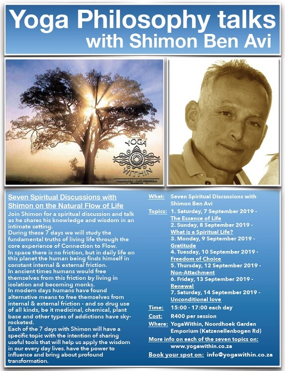 Philosophy with Shimon - August 2019