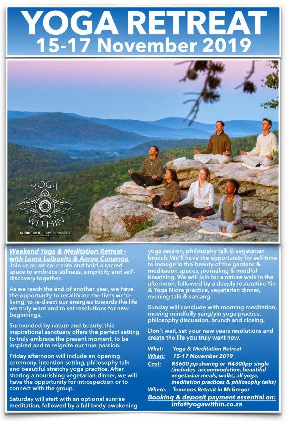 Yoga retreat nr2 - 15-17 Nov 2019