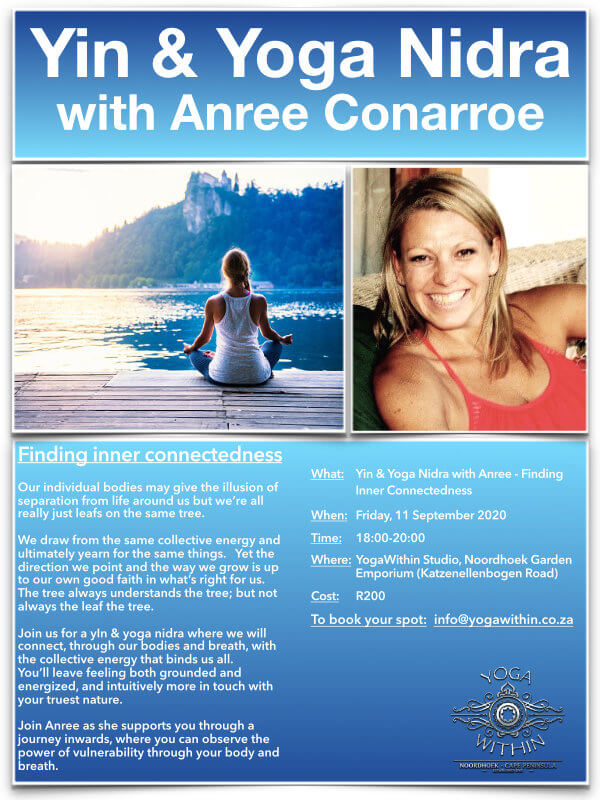 Yin & Yoga Nidra with Anree - Sept 2020