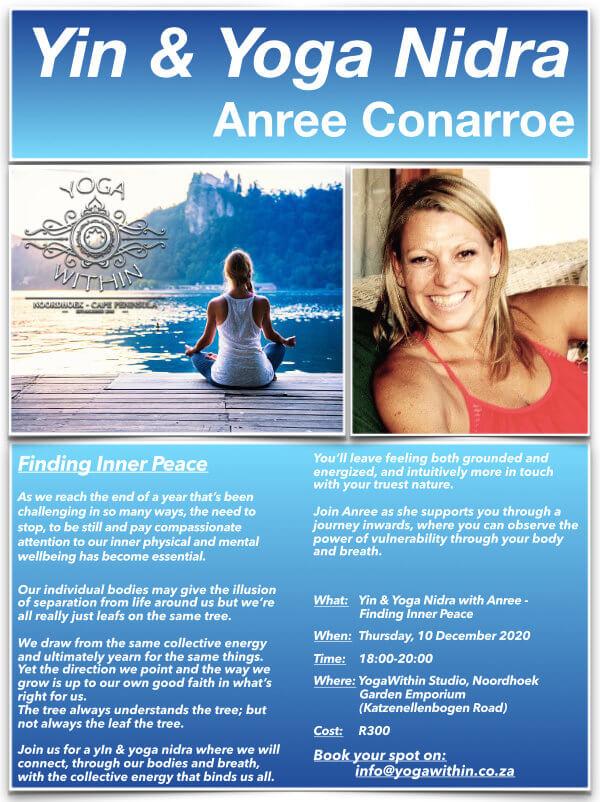 Yin and Yoga Nidra with Anree - Dec 2020