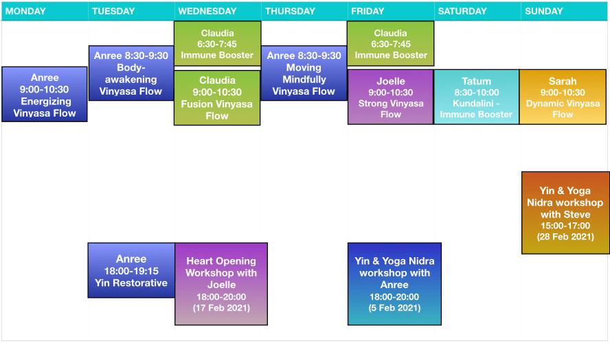 Yogawithin Schedule - Feb 2021