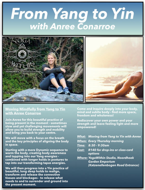 From Yang to Yin with Anree - Feb 2021