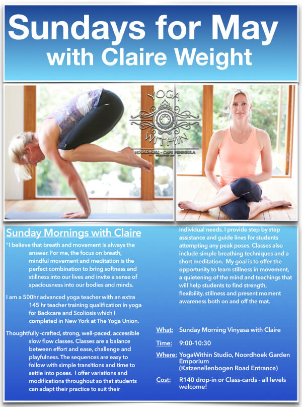 Sundays with Claire - May 2021