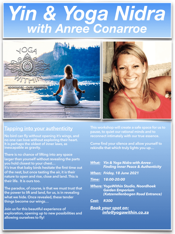 Yin and Yoga Nidra with Anree - June 2021