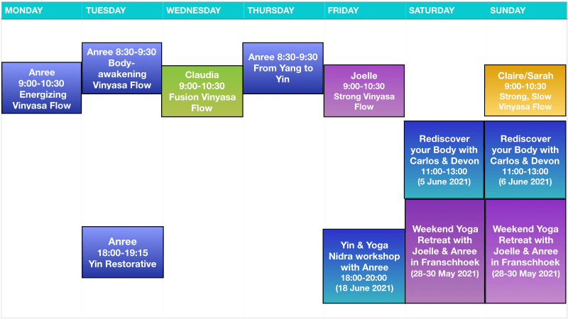 Yogawithin Schedule - May 2021