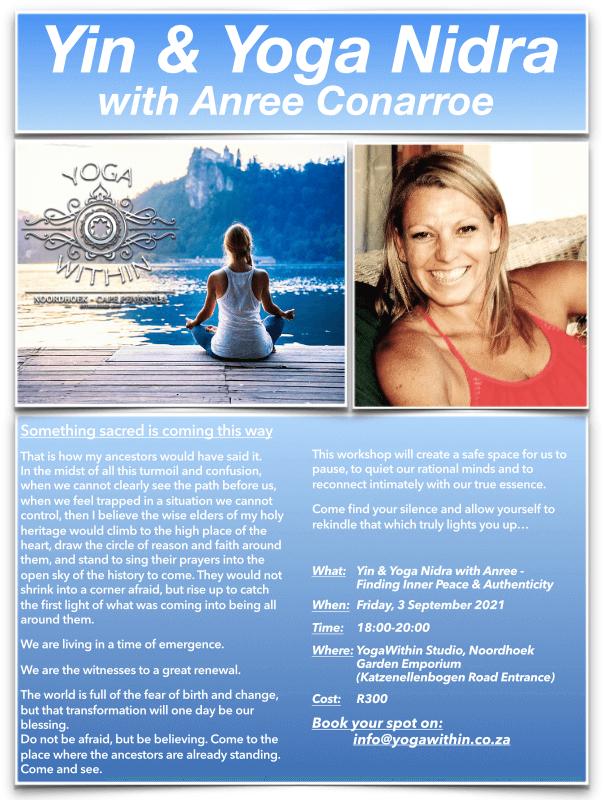 Yin & Yoga Nidra with Anree - Sept 2021