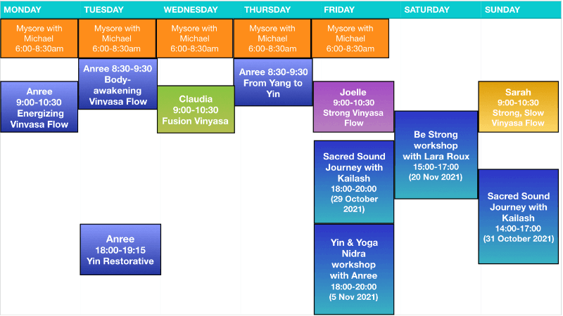 Yogawithin Schedule - Oct 2021